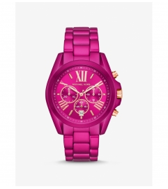 Michael Kors Oversized Bradshaw Pink Coated Watch