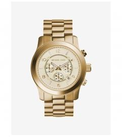 Michael Kors Runway Oversized Gold-Tone Watch