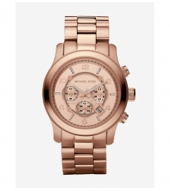 Michael Kors Runway Oversized Rose Gold-Tone Watch