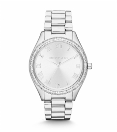 Michael Kors Blake Silver-Tone Glitz Watch
