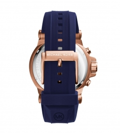 Michael Kors Dylan Rose Gold-Tone Silicone Watch