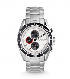 Michael Kors Jetmaster Silver-Tone Watch