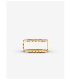 Michael Kors Precious Metal-Plated Sterling Silver Pavé Ring Jacket