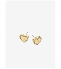 Michael Kors Pavé Gold-Tone Heart Charm Earrings