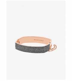 Michael Kors Pavé Rose Gold-Tone Cushion Bangle
