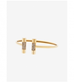 Michael Kors Pavé Gold-Tone Barrel Cuff