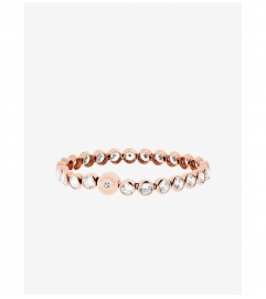Michael Kors Crystal Rose Gold-Tone Tennis Bracelet
