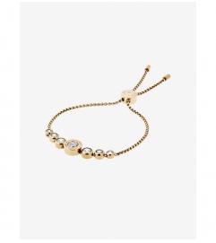 Michael Kors Cubic Zirconia Gold-Tone Slider Bracelet