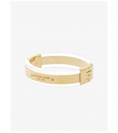 Michael Kors Gold-Tone And Clear Acetate Bracelet
