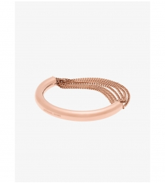 Michael Kors Rose Gold-Tone Draped-Chain Bracelet