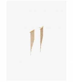 Michael Kors Gold-Tone Chain Fringe Earrings