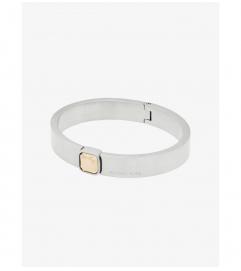 Michael Kors Brushed Silver-Tone Hinge Bracelet