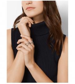 Michael Kors Silver-Tone Pavé Ring