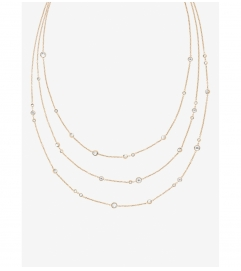 Michael Kors Gold-Tone Multi-Strand Station Necklace