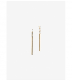 Michael Kors Gold-Tone Baguette Tassel Earrings