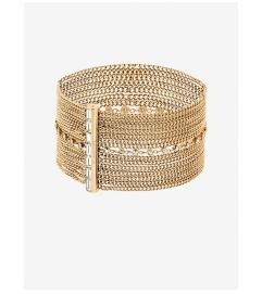 Michael Kors  Gold-Tone Multi-Chain Baguette Bracelet