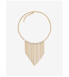 Michael Kors Gold-Tone Baguette Fringe Necklace