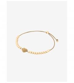 Michael Kors Pavé Gold-Tone Heart Slider Bracelet