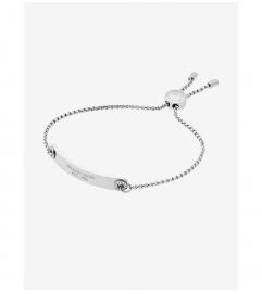 Michael Kors Pavé Silver-Tone Logo Plaque Slider Bracelet