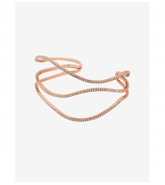 Michael Kors Pavé Rose Gold-Tone Wave Cuff