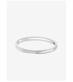 Michael Kors Pavé Silver-Tone Bangle