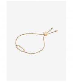 Michael Kors Pavé Gold-Tone Slider Bracelet