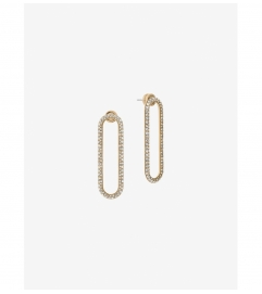 Michael Kors Gold-Tone  Pavé Gold-Tone Drop Earrings