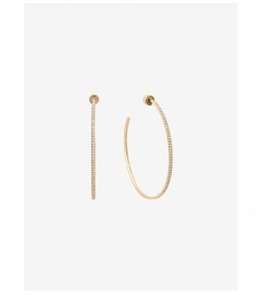 Michael Kors Pavé Gold-Tone Hoop Earrings