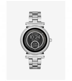 Michael Kors Access Sofie Pavé Silver-Tone Smartwatch
