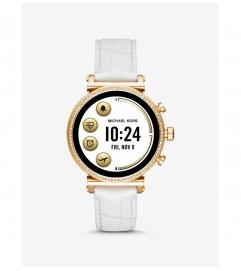Michael Kors Access Gen 4 Sofie Gold-Tone and Embossed Silicone Smartwatch
