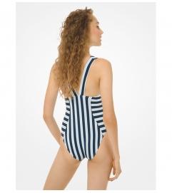MICHAEL Michael Kors Striped Swimsuit