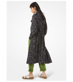 MICHAEL Michael Kors Floral Cady Trench Coat