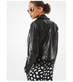 MICHAEL Michael Kors Faux Leather Moto Jacket