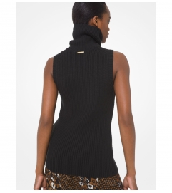 MICHAEL Michael Kors Cotton Blend Sleeveless Sweater