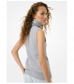 MICHAEL Michael Kors Cotton Blend Sleeveless Sweater