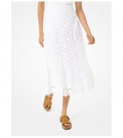 MICHAEL Michael Kors Floral Eyelet Cotton Skirt