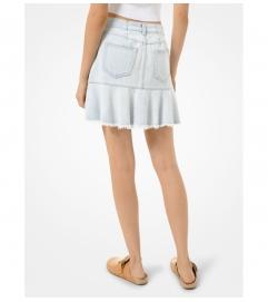 MICHAEL Michael Kors Flounce Denim Skirt