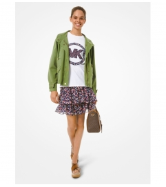 MICHAEL Michael Kors Floral Georgette Tiered Cascade Ruffle Skirt