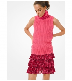 MICHAEL Michael Kors Petal Stretch Viscose Tiered Ruffle Skirt