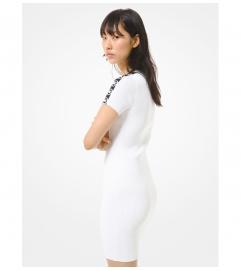 MICHAEL Michael Kors Logo Tape Ribbed Stretch Viscose Dress