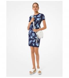MICHAEL Michael Kors Floral Sequined Stretch Viscose Dress