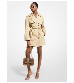 MICHAEL Michael Kors Chain Trim Cotton Trench Coat