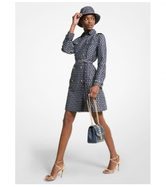 MICHAEL Michael Kors Diamond Logo Jacquard Trench Coat