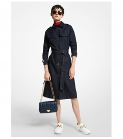 MICHAEL Michael Kors Denim Trench Coat