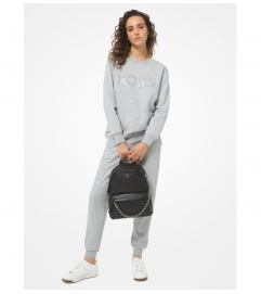 MICHAEL Michael Kors Logo Organic Cotton Blend Sweatshirt