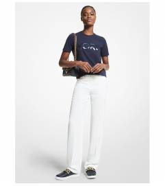 MICHAEL Michael Kors Logo Organic Cotton Jersey T-Shirt