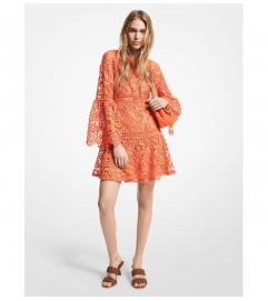 MICHAEL Michael Kors Paisley Lace Bell Sleeve Dress