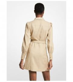 MICHAEL Michael Kors Belted Hemp Dress