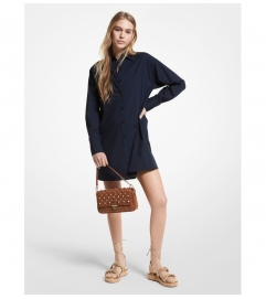 MICHAEL Michael Kors Stretch Cotton Poplin Shirtdress