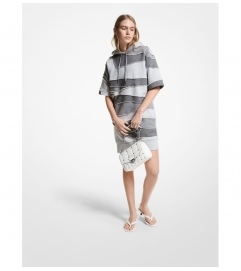 MICHAEL Michael Kors Organic Cotton Blend Hoodie Dress